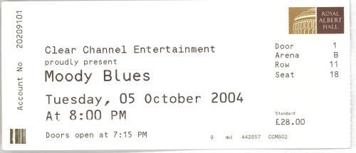 Moody Blues 2004 World Tour + Ticket Stub tour programme UK MBLTRWO670429