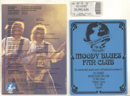 Moody Blues A Night At Red Rocks Tour Programme + Ticket & Signed tour programme UK MBLTRAN714678