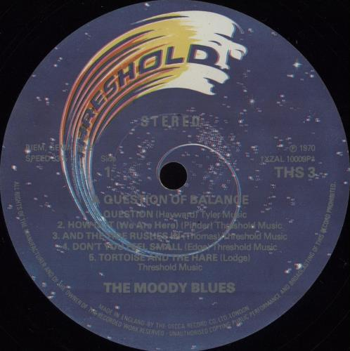 Moody Blues A Question Of Balance - 2nd vinyl LP album (LP record) UK MBLLPAQ379049