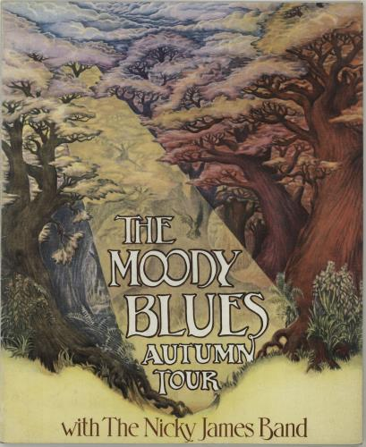 Moody Blues Autumn Tour + Ticket Stubs tour programme UK MBLTRAU687400