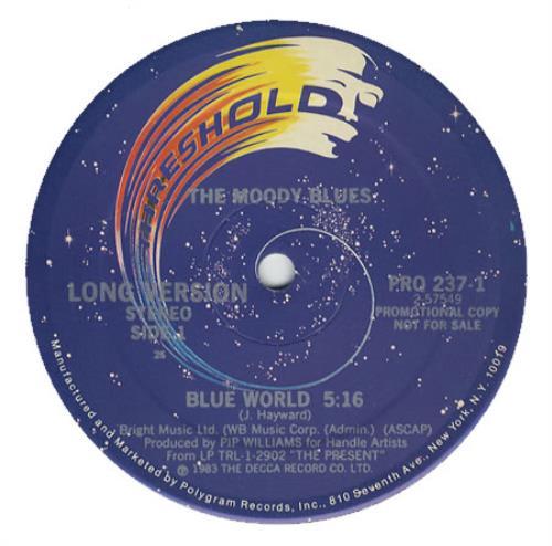 "Moody Blues Blue World 12"" vinyl single (12 inch record / Maxi-single) US MBL12BL25993"