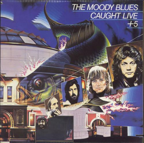 Moody Blues Caught Live + 5 2-LP vinyl record set (Double Album) US MBL2LCA129768