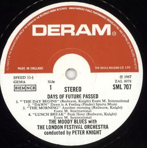 Moody Blues Days Of Future Passed - 5th UK vinyl LP album (LP record)