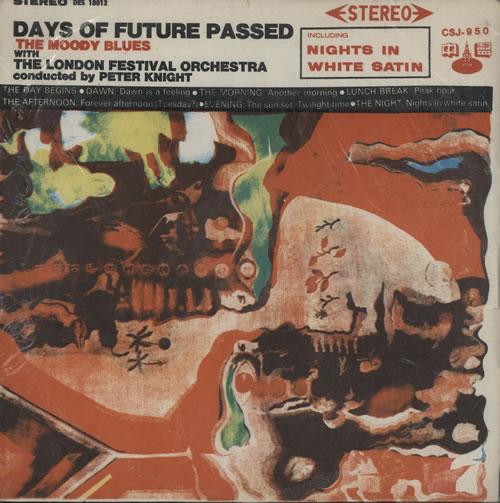 Moody Blues Days Of Future Passed Taiwanese vinyl LP album (LP record)