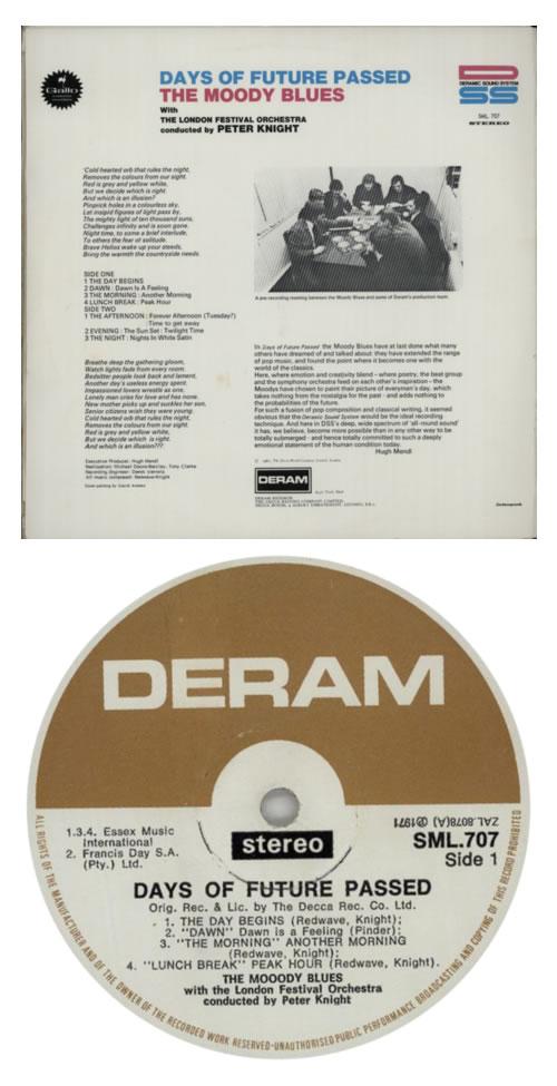 Moody Blues Days Of Future Passed South African vinyl LP album (LP