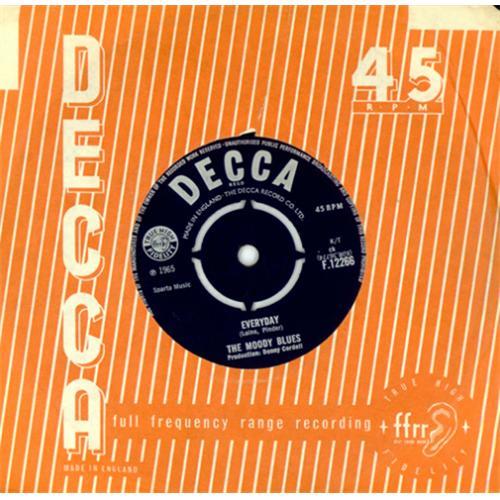 "Moody Blues Everyday 7"" vinyl single (7 inch record) UK MBL07EV414314"