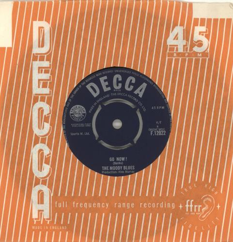 "Moody Blues Go Now! 7"" vinyl single (7 inch record) UK MBL07GO81226"
