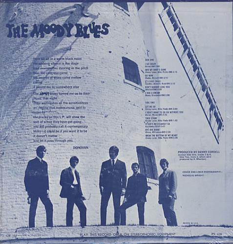 Moody Blues Go Now - 2nd Pressing vinyl LP album (LP record) US MBLLPGO325025