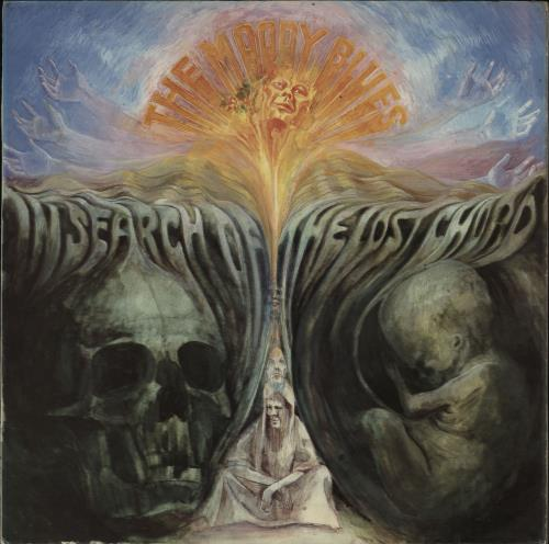 Moody Blues In Search Of The Lost Chord - 4th / Stereo/Mono hole sleeve vinyl LP album (LP record) UK MBLLPIN763479