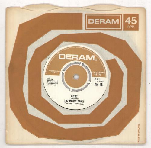 "Moody Blues Nights In White Satin - 2nd 7"" vinyl single (7 inch record) UK MBL07NI333818"
