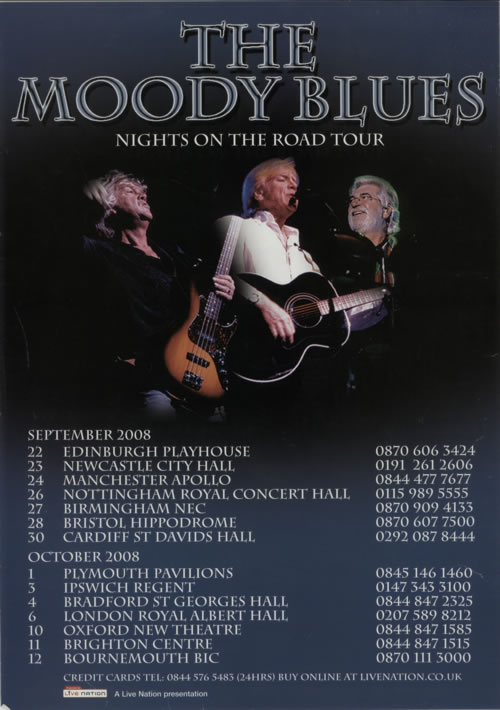 Moody Blues Nights On The Road Tour poster UK MBLPONI611481
