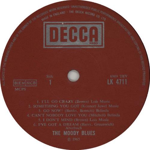 Moody Blues The Magnificent Moodies - 70s vinyl LP album (LP record) UK MBLLPTH564389