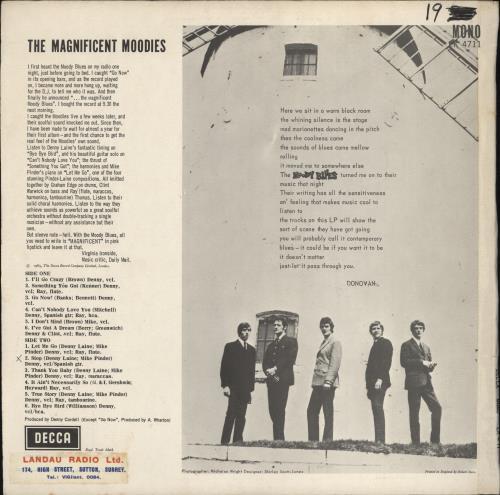 Moody Blues The Magnificent Moodies - WOC vinyl LP album (LP record) UK MBLLPTH773905