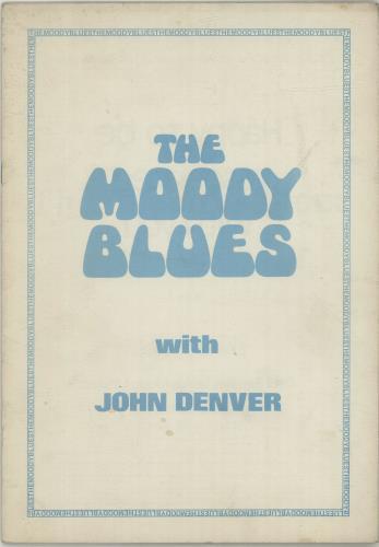 Moody Blues The Moody Blues With John Denver + Ticket Stub tour programme UK MBLTRTH687401