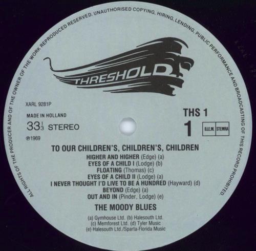 Moody Blues To Our Children's Children's Children + insert vinyl LP album (LP record) Dutch MBLLPTO770946