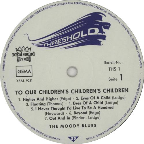 Moody Blues To Our Children's Children's Children vinyl LP album (LP record) German MBLLPTO653382