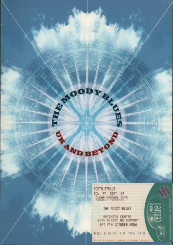 Moody Blues UK & Beyond + Ticket Stub tour programme UK MBLTRUK595608