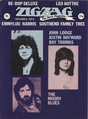 Moody Blues Zig Zag #56 magazine UK MBLMAZI381869