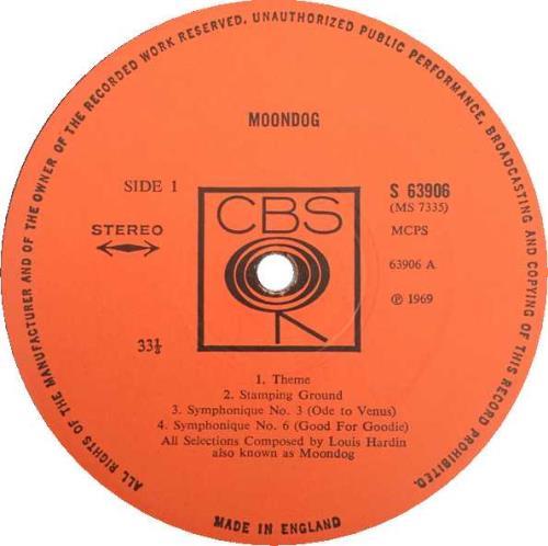 Moondog Moondog - EX vinyl LP album (LP record) UK MDGLPMO410198
