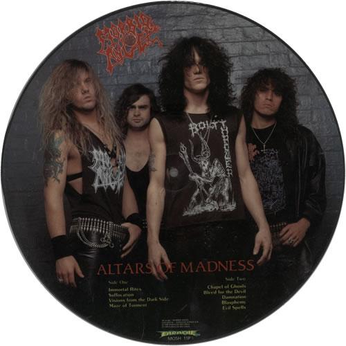Morbid Angel Altars Of Madness picture disc LP (vinyl picture disc album) UK MRDPDAL629614
