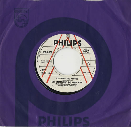 """Morecambe & Wise Following You Around 7"""" vinyl single (7 inch record) UK M&W07FO476392"""