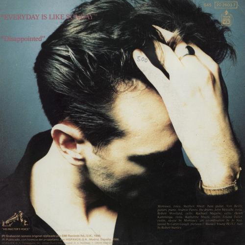 "Morrissey Everyday Is Like Sunday 7"" vinyl single (7 inch record) Spanish MOR07EV758417"