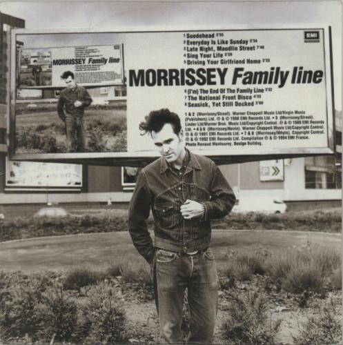 Morrissey Family Line CD album (CDLP) French MORCDFA28782