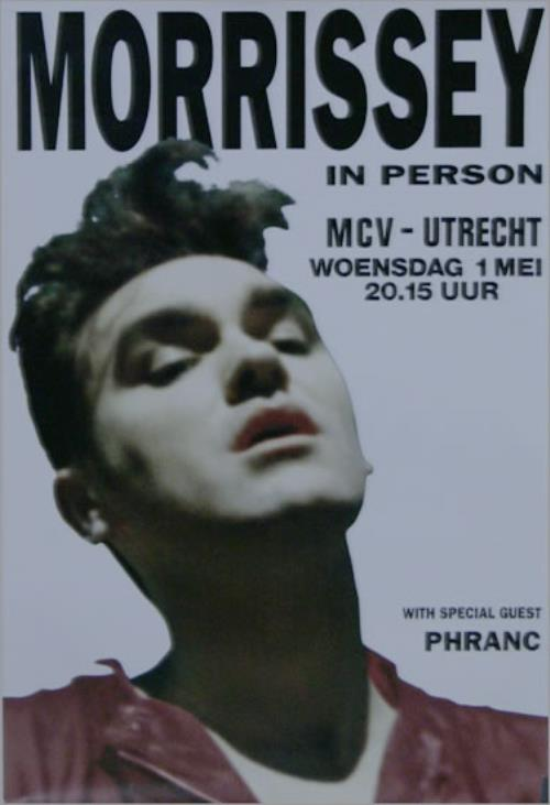 Morrissey In Person - Utrecht poster Dutch MORPOIN516687