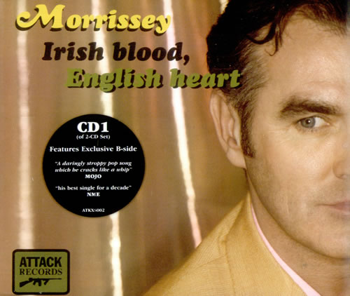"Morrissey Irish Blood, English Heart CD single (CD5 / 5"") UK MORC5IR528270"
