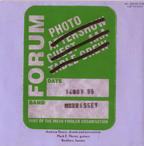 Morrissey Kill Uncle + Pass CD album (CDLP) UK MORCDKI579516