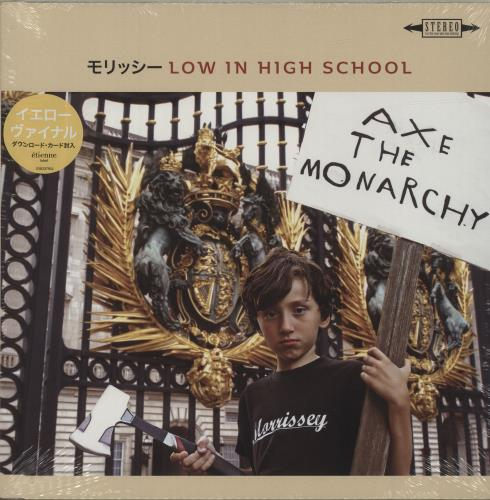 Morrissey Low In High School (Japanese Edition) - Yellow Vinyl + Sealed vinyl LP album (LP record) UK MORLPLO685189