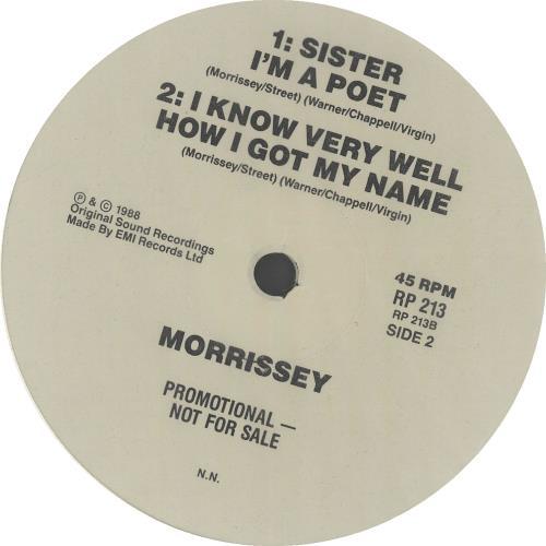 "Morrissey Morrissey.......... Sampler 12"" vinyl single (12 inch record / Maxi-single) Australian MOR12MO09104"