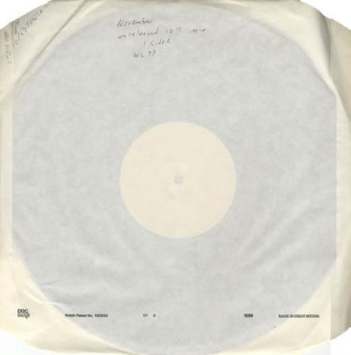 "Morrissey November The Second - Unreleased 12"" vinyl single (12 inch record / Maxi-single) UK MOR12NO380206"
