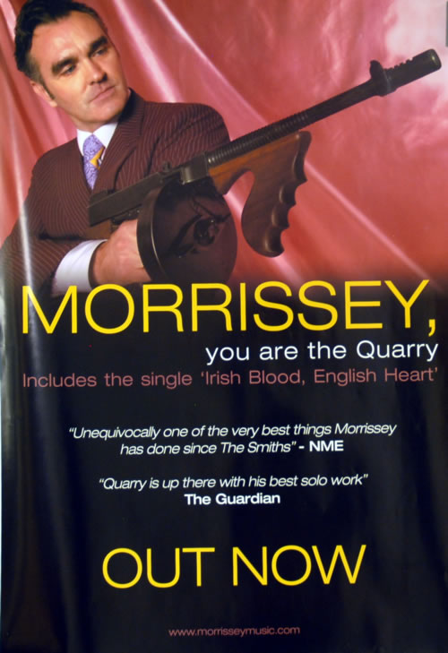 Morrissey You Are The Quarry poster UK MORPOYO610904
