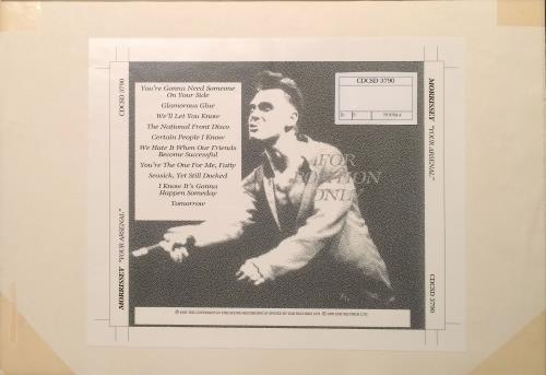 Morrissey Your Arsenal - Artwork artwork UK MORARYO671640