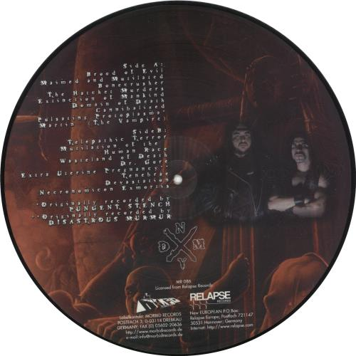 "Mortician Domain Of Death 12"" vinyl picture disc 12inch picture disc record German Q1Z2PDO705479"