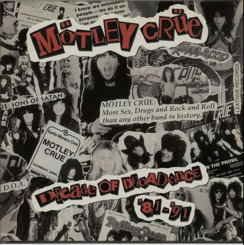 Motley Crue Decade Of Decadence '81-'91 2-LP vinyl record set (Double Album) German CRU2LDE245274