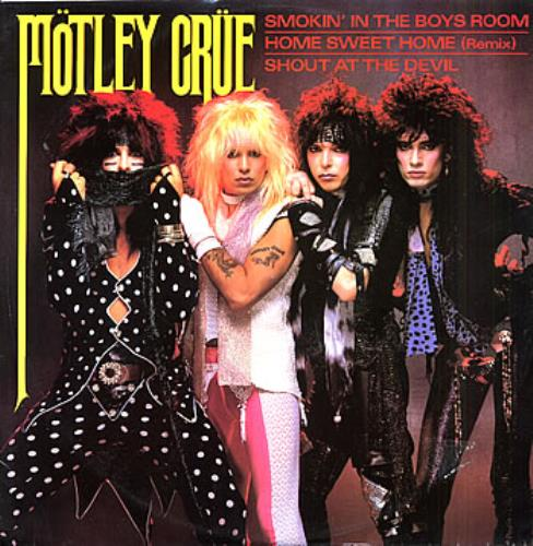 "Motley Crue Smokin' In The Boys Room 12"" vinyl single (12 inch record / Maxi-single) UK CRU12SM02684"