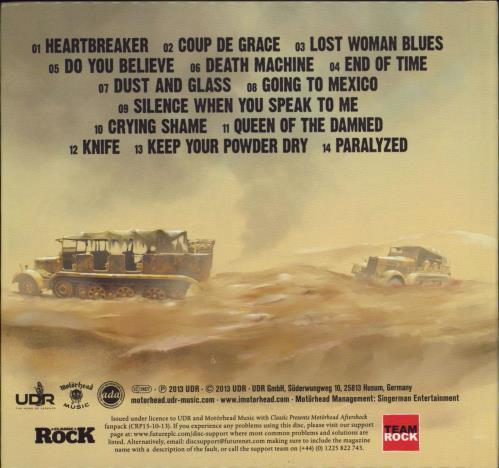 Motorhead Aftershock CD album (CDLP) German MOTCDAF769020