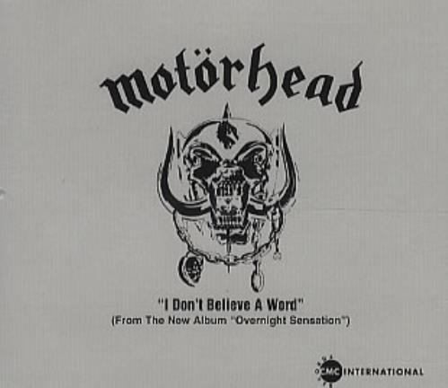 "Motorhead I Don't Believe A Word CD single (CD5 / 5"") US MOTC5ID84560"
