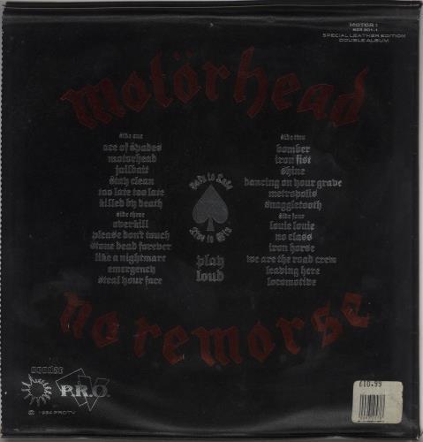 Motorhead No Remorse - Leather Sleeve - EX 2-LP vinyl record set (Double Album) UK MOT2LNO337159