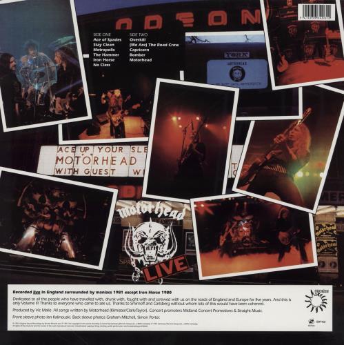 Motorhead No Sleep 'Til Hammersmith - 180gm vinyl LP album (LP record) UK MOTLPNO755144
