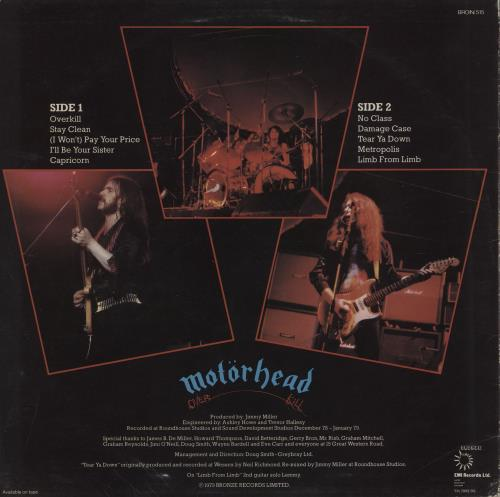Motorhead Overkill - 1st - EX vinyl LP album (LP record) UK MOTLPOV758144