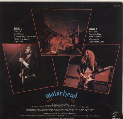 Motorhead Overkill vinyl LP album (LP record) UK MOTLPOV309108