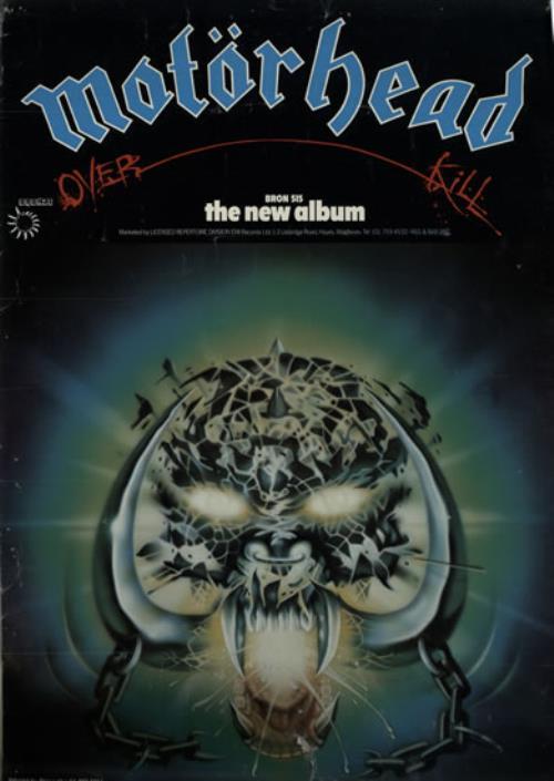 Motorhead Overkill UK Promo poster (634342)