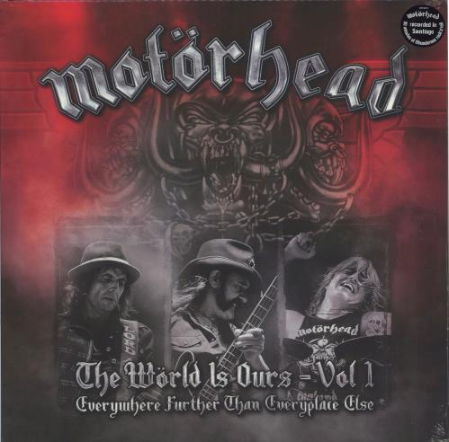 Motorhead The Wörld Is Ours - Vol 1 (Everywhere Further Than Everyplace Else) 2-LP vinyl record set (Double Album) US MOT2LTH770463