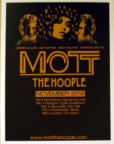 Mott The Hoople November 2013 Tour poster UK MHOPONO645778