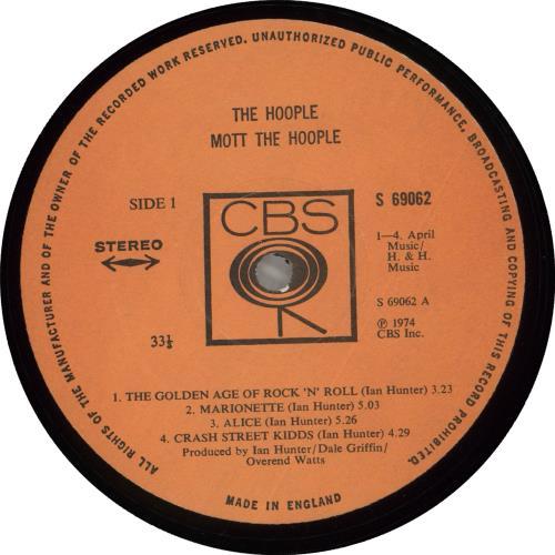 Mott The Hoople The Hoople - Stickered - EX vinyl LP album (LP record) UK MHOLPTH686771
