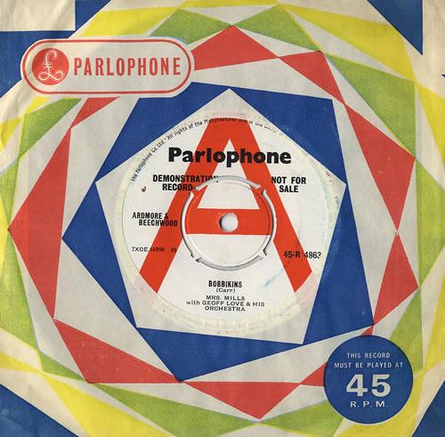 """Mrs. Mills Bobbikins 7"""" vinyl single (7 inch record) UK MMQ07BO481661"""