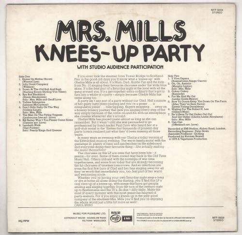 Mrs. Mills Knees-Up Party vinyl LP album (LP record) UK MMQLPKN737909